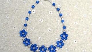 getlinkyoutube.com-بالتفصيل طريقة عمل عقد الوردات اللولي الأزرق اكسسوار 2014