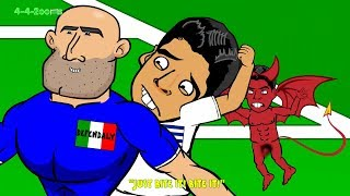 getlinkyoutube.com-😁LUIS SUAREZ BITE on Chiellini😁 Italy vs Uruguay by 442oons 0-1(World Cup Cartoon 24.6.14) BeatIit