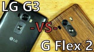 LG Smartphone Showdown! G Flex 2 -VS- G3! Battle! Fight!