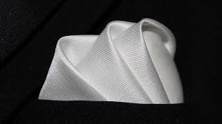 getlinkyoutube.com-How To Fold a Pocket Square The Wave Fold
