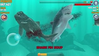 getlinkyoutube.com-Hungry Shark Evolution: MEGALODON iPhone Gameplay