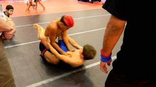 getlinkyoutube.com-Mark Lozano vs Khristian Cecenas No Gi TEENS LSBJJF Jiu Jitsu State Championships 1st place match