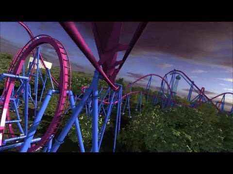 Banshee OnRide POV - King Island - Inverted Coaster 2014