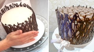 CHOCOLATE HACKS How To Make Chocolate Cake WRAP Cage by Cakes Step by Step