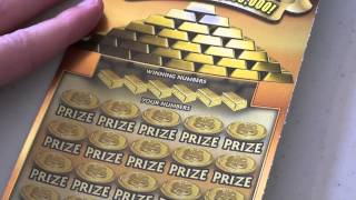getlinkyoutube.com-$1,000,000 Gold Rush Georgia Lottery Scratch off