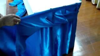 getlinkyoutube.com-Making table skirt basic twist style, การทำ skirt แบบเกลียวอย่างง่าย