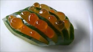 getlinkyoutube.com-きゅうりの飾り切り Cucumber Carving Garnish