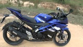 getlinkyoutube.com-Yamaha R15 V2 Racing Blue - Walkaround