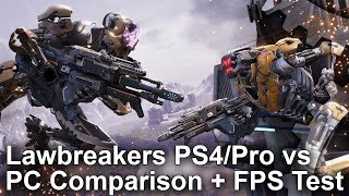LawBreakers - PS4/Pro vs PC Graphics Comparison
