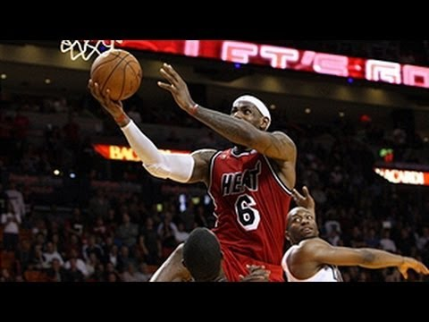 LeBron James near perfect game!