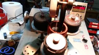 getlinkyoutube.com-Toroidal transformer winding machine!!