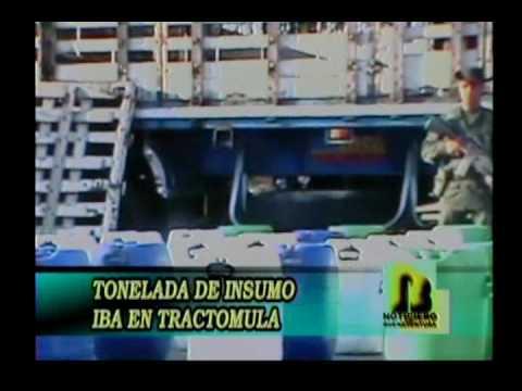 Policía incauta una tonelada de insumos para fabricar alucinógenos