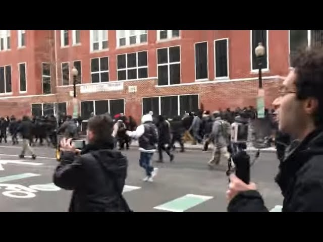 Gewaltsame Proteste gegen Trumps Amtseinführung