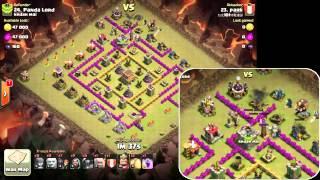 getlinkyoutube.com-[部落衝突-CoC] 部落戰 - 石法皮 (Clan Wars - Golem, Wizard, PEKKA) TH8 VS TH8
