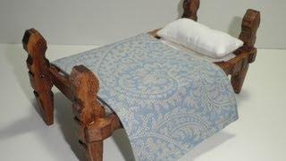 getlinkyoutube.com-tutorial para hacer una cama con pinzas de madera / tutorial to make a bed with wooden pegs