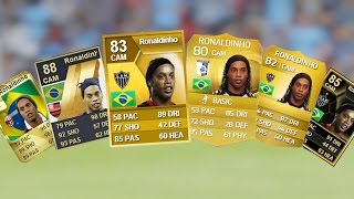 Ronaldinho Ultimate Team Cards from FIFA 10 to FIFA 15
