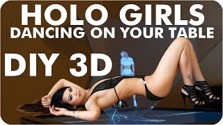 getlinkyoutube.com-Hologram TV | Girls Projector | Sexy 3D Pyramid Holo Girls Dancing On Your Table