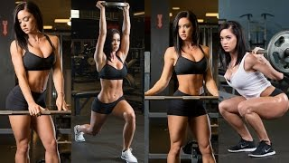getlinkyoutube.com-Katy Hearn Gym Workout Routine - Beautiful Bikini Girl