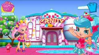 getlinkyoutube.com-Shopkins Welcome to Shopville App Game Candy Catching Shopping Bag Toss Lost Homewares
