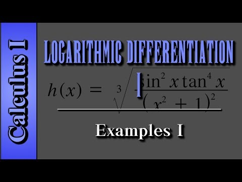 Calculus I: Logarithmic Differentiation (Level 1)