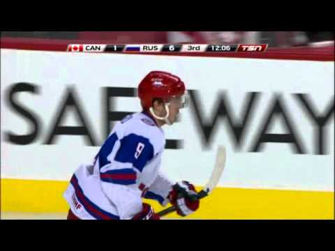 World Junior Championships 2012 - Semi-final: Canada - Russia [CAN-RUS] 5-6