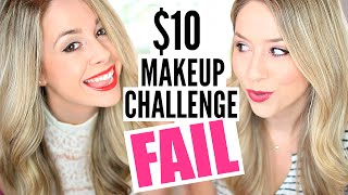 $10 Makeup Challenge - FAIL!! - DOLLAR TREE MAKEUP CHALLENGE