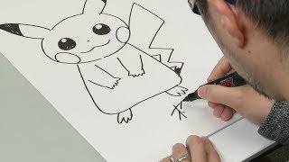 getlinkyoutube.com-Hoe teken je Pikachu met Pokémon Character Art Director Ken Sugimori!