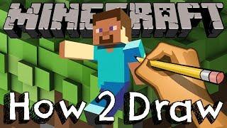 getlinkyoutube.com-How To Draw Steve From Minecraft #HowToDraw #Steve