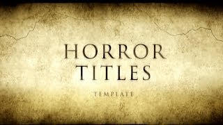 getlinkyoutube.com-Horror Movie Titles -After Effects Template