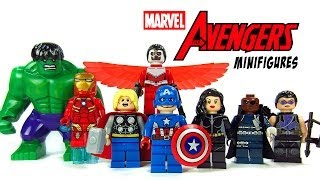 getlinkyoutube.com-LEGO Avengers Assemble KnockOff Minifigures Marvel Superheroes w/ Hulk Iron Man & Captain America