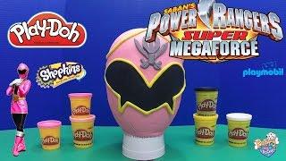 Power Rangers Super MegaForce Pink Ranger Giant Play-Doh Egg