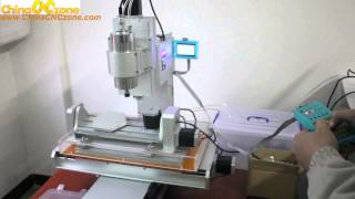 getlinkyoutube.com-ChinaCNCzone HY-3040 Mini 5 Axis CNC Machine Review---DSP Test