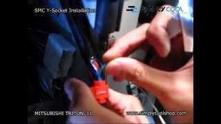 getlinkyoutube.com-SMC : วิธีติดตั้ง กล่องพับกระจกออโต้ Mitsubishi Triton, Pajero Sport DIY Installation
