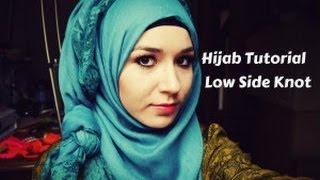 getlinkyoutube.com-Hijab tutorial l Low Side Knot
