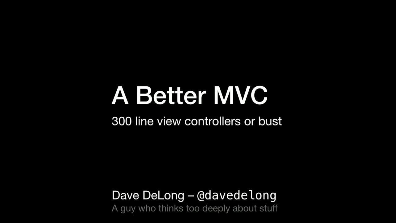 A Better MVC
