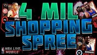 getlinkyoutube.com-4 MILLION COIN SHOPPING SPREE!! MY BIGGEST SHOPPING SPREE!! - NBA Live Mobile