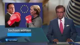 getlinkyoutube.com-Die tagesschau VERARSCHE -  Kampflesbe Merkel geht steil