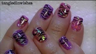 getlinkyoutube.com-My Starry Zebra Acrylic Nails