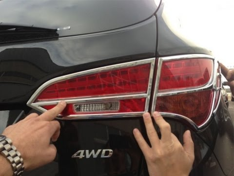 Хром задних фар Hyundai Santa Fe IX45