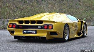 getlinkyoutube.com-Ultra-RARE Lamborghini Diablo GT1 Stradale - Start Up, Revs & Overview!