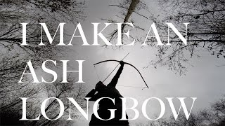 getlinkyoutube.com-Traditional Longbow. I make an Ash Longbow. How to Make a Survival/Bushcraft Longbow from Ash.