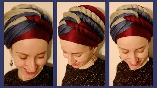 getlinkyoutube.com-The Wrapunzel Triple Twist Turban!