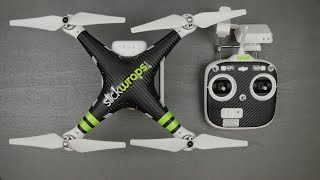 getlinkyoutube.com-SlickWraps.com Carbon Fiber Wrap for the DJI Phantom 2 Vision!