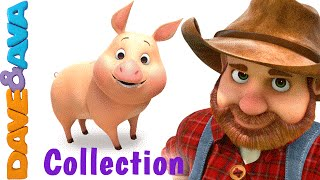 getlinkyoutube.com-Old MacDonald Had a Farm | Animal Sounds Song | Nursery Rhymes & Baby Songs Collection Dave and Ava