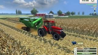 getlinkyoutube.com-Farming Simulator Saturday: More Realistic Case IH Corn Harvest