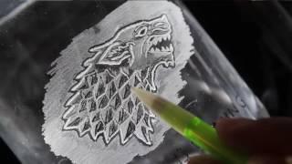getlinkyoutube.com-Glass Engraving for the Beginner - Game of Thrones Beer Mug Tutorial