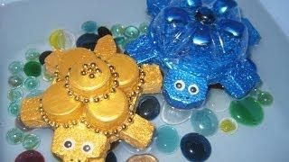 getlinkyoutube.com-DIY Плавающие черепашки. Мастер-класс \ Turtles from plastic bottles \ Plastic bottles crafts