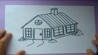 getlinkyoutube.com-Como dibujar una casa paso a paso  | How to draw a house