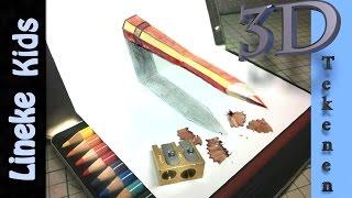 getlinkyoutube.com-Hoe teken je een 3D potlood / 3D tekenen / #35