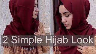 getlinkyoutube.com-2 Simple Hijab Look | Diana Syaqina